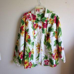 Coldwater Creek floral jacket plus size 3X